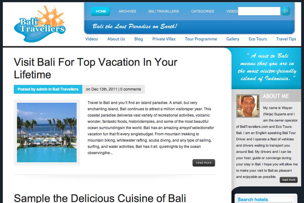 Bali Travellers